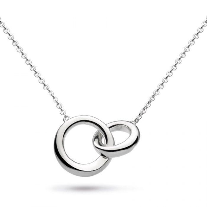 Kit Heath Silver interlocking circles necklace