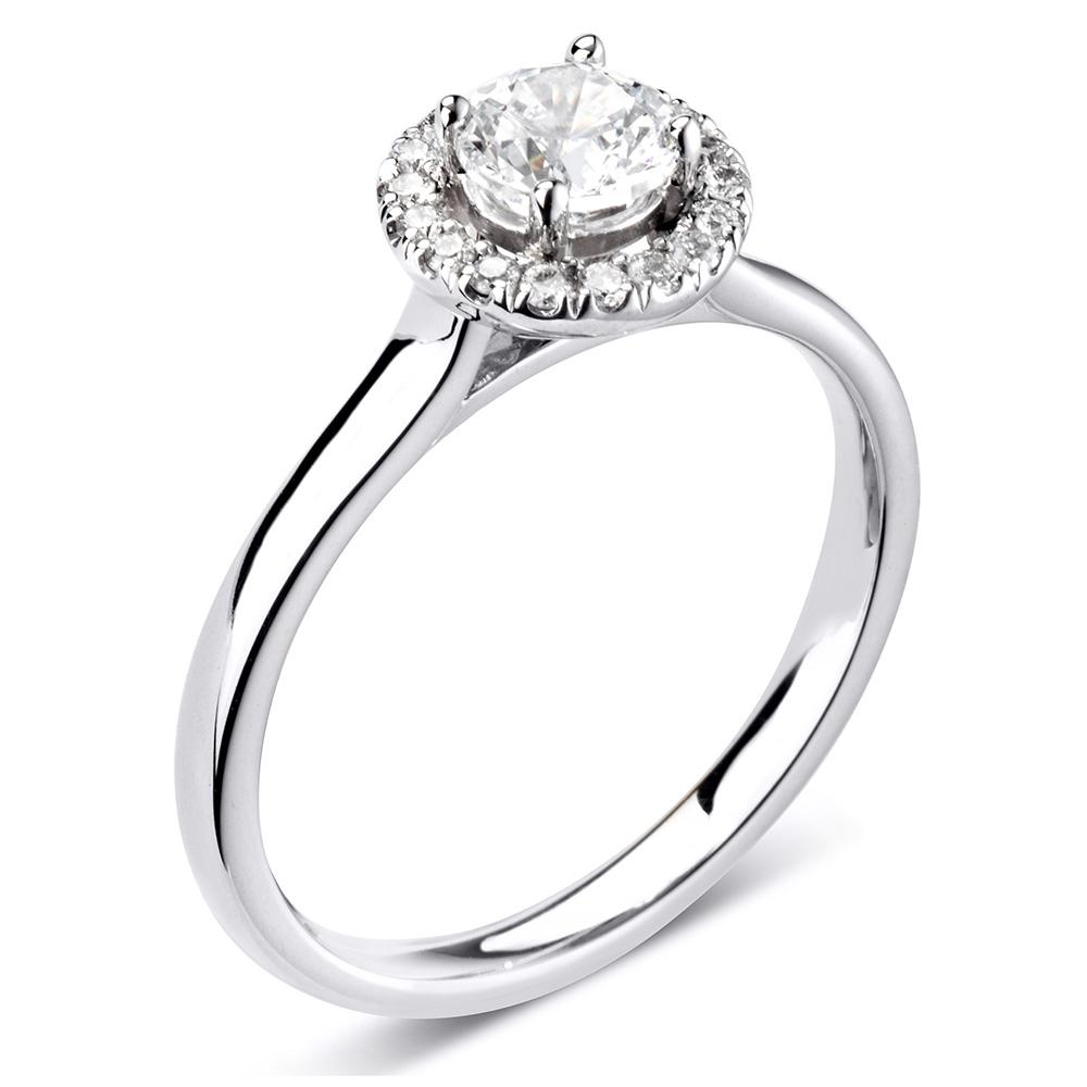 silver diamond engagement ring