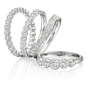 group of silver eternity rings