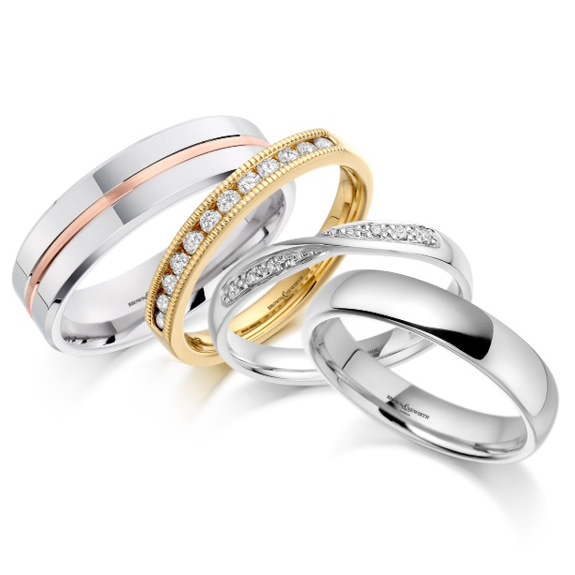 selection of wedding rings